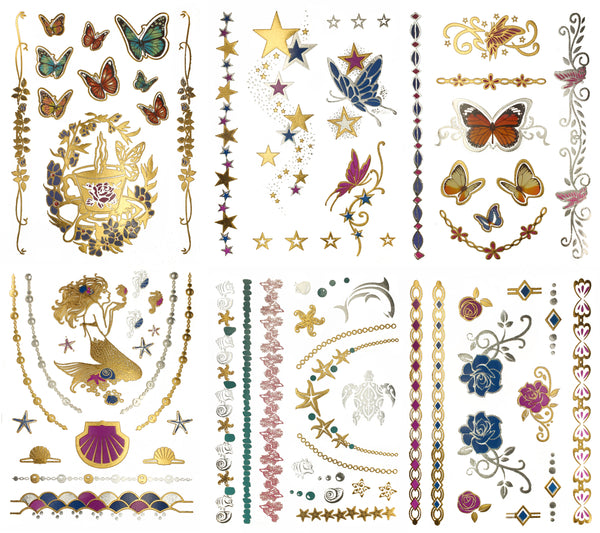 Bella Color Temporary Tattoos