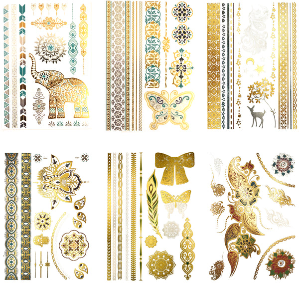 Willow Color Metallic Temporary Tattoos