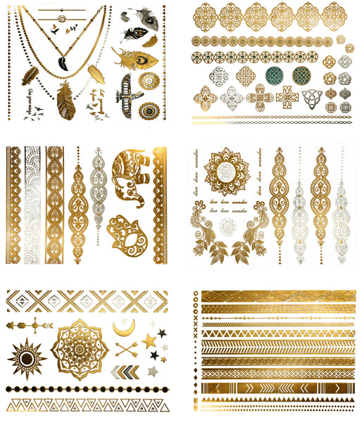 Serenity Metallic Temporary Tattoos