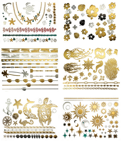 Aja Temporary Metallic Tattoos