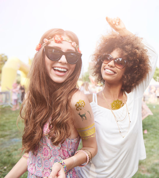 Willow Metallic Temporary Tattoos Festival
