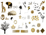 small-animals-metallic-temporary-tattoos-gold-silver-body-flash-tats-Addison
