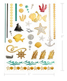Beach-Flash-tattoos-Gold-Silver-Pink-Teal-Color-Sea-Life-Animals-Hawaiian-Vacations-Cruises-Travel-Necklaces-bracelets-Fake-Jewelry-Tats-Alana