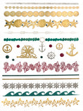 Gold-Teal-Silver-Color-Shimmer-Temp-Tattoos-beach-vacations-cruises-travel-Hawaiian-Body-tats-art-Alana