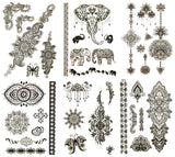 Black-Temporary-Tattoos-jewelry-accessories-flash-removable-fake-women-kids-girls-adults-giselle