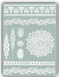 Terra Tattoos Temporary Henna Metallic Tattoos - Over 75 Mandala Tattoos (Rose Gold)