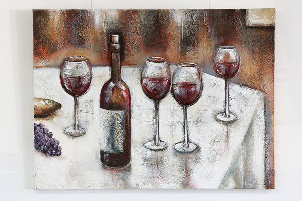 Hand Painted Gourmet Canvas Artwork