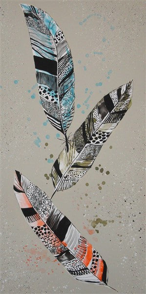 Feathers 3 - Canvas Art Online Australia from Go Arty