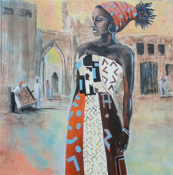 African Market - Canvas Art Online Australia from Go Arty