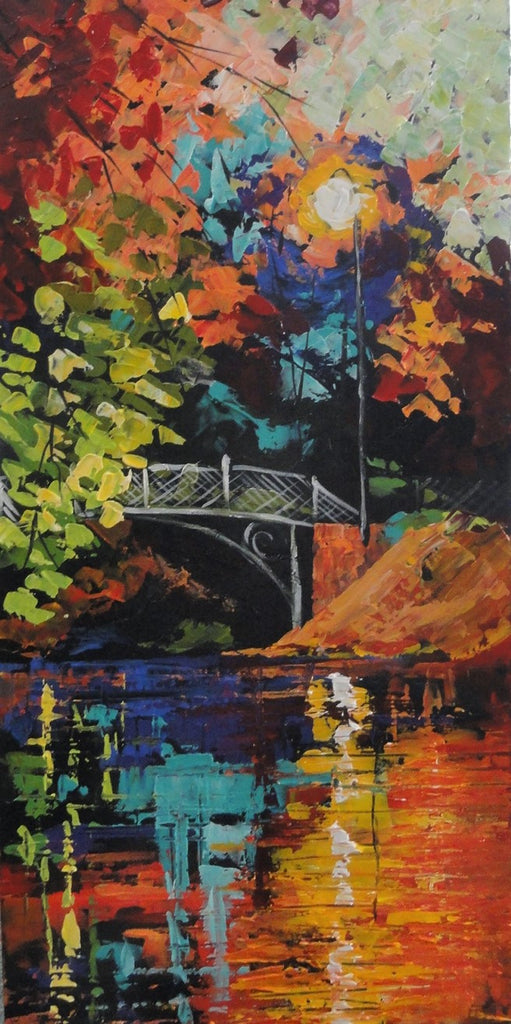 Bridge Over Moonlight - Canvas Art Online Australia from Go Arty