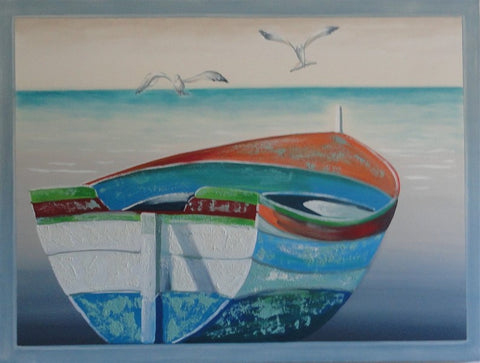 Fishing Boat - Canvas Art Online Australia from Go Arty