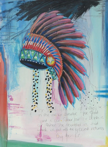 Head Dress - Canvas Art Online Australia from Go Arty