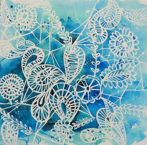 Lace (Blue) - Canvas Art Online Australia from Go Arty