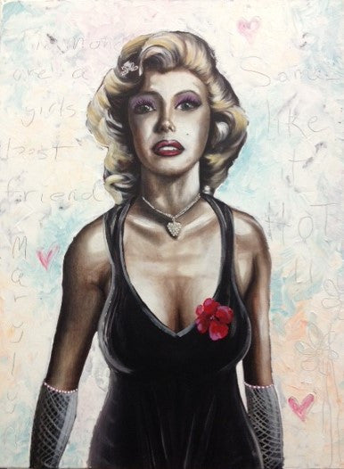 Marilyn With Bling - Canvas Art Online Australia from Go Arty
