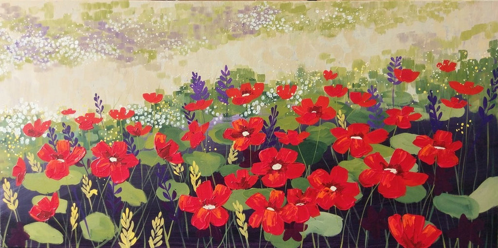 Poppies Galore - Canvas Art Online Australia from Go Arty