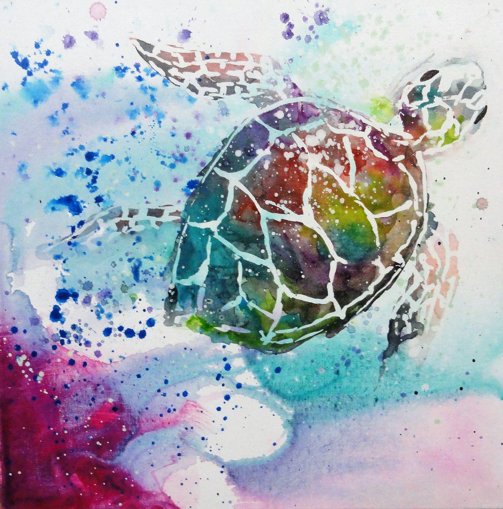 Turtle Heaven Pink - Canvas Art Online Australia from Go Arty