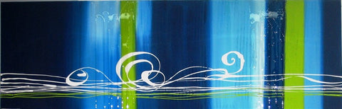 Abstract Fun With Resin Runs - Canvas Art Online Australia from Go Arty