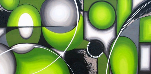 Atmospheric Lime - Canvas Art Online Australia from Go Arty