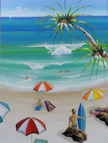 Beach Day Out - Canvas Art Online Australia from Go Arty