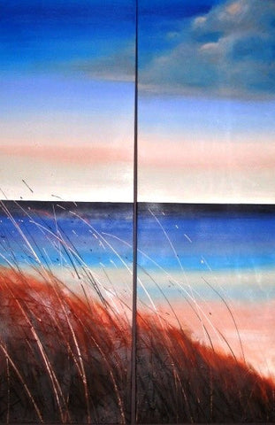 Beach Grass Sunset 2 - Canvas Art Online Australia from Go Arty