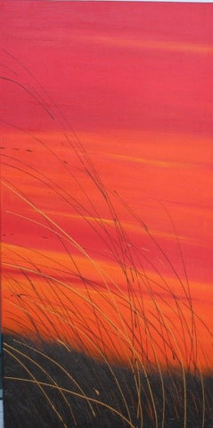 Beach Grass Sunset - Canvas Art Online Australia from Go Arty