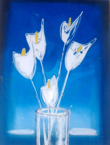 Blue Lillies - Canvas Art Online Australia from Go Arty