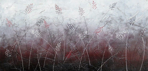 Burgundy Reeds - Canvas Art Online Australia from Go Arty