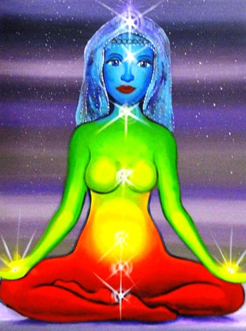 Chakra Girl - Canvas Art Online Australia from Go Arty