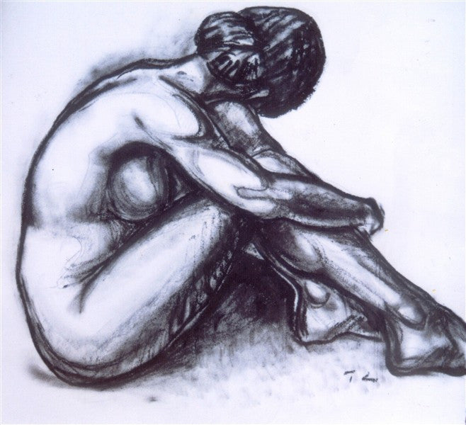 Charcoal Nude - Canvas Art Online Australia from Go Arty