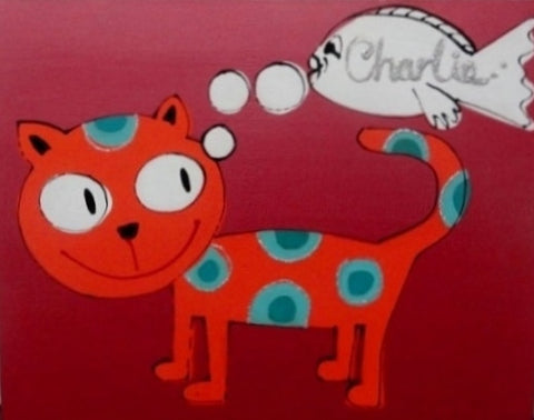Charlie The Cat - Canvas Art Online Australia from Go Arty