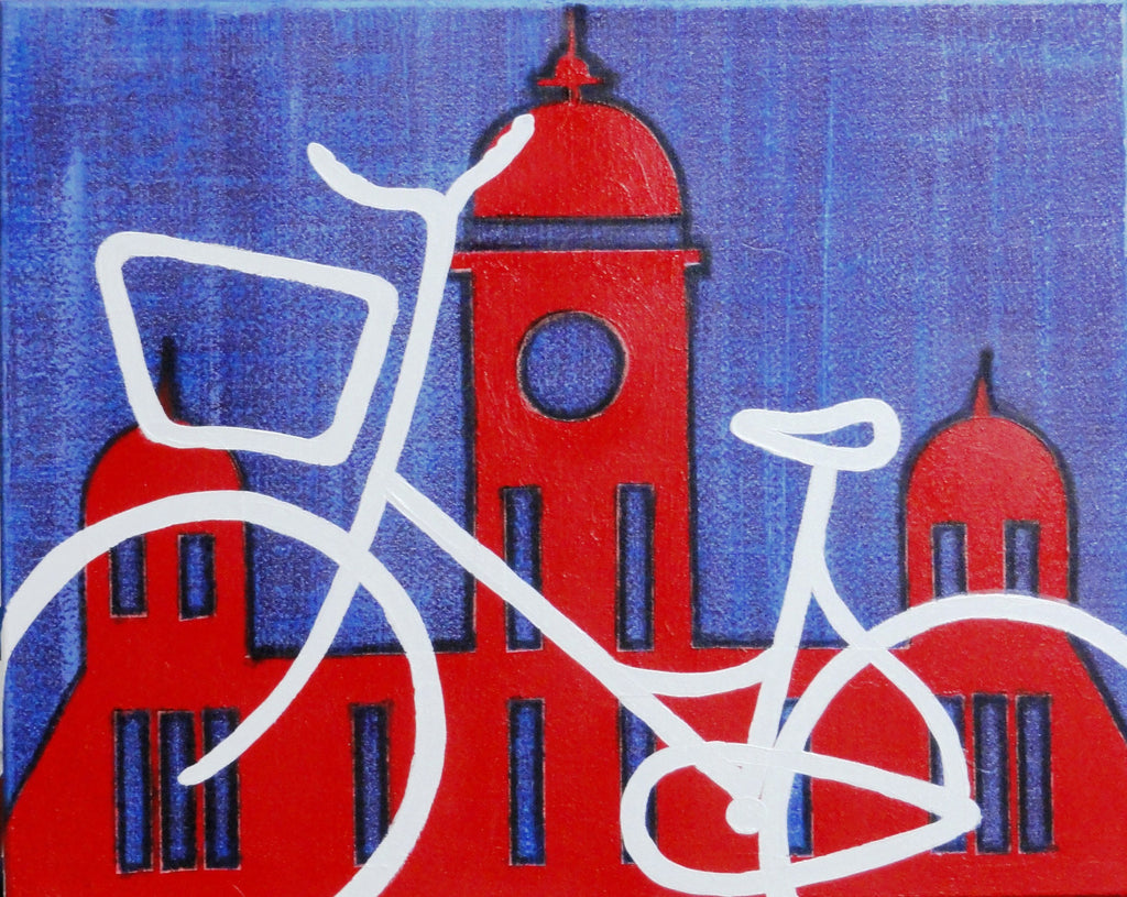 City Cycle - Canvas Art Online Australia from Go Arty