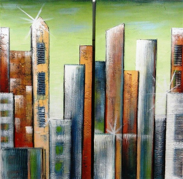 Cityscape Diptych - Canvas Art Online Australia from Go Arty