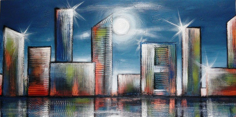 Cityscape Night - Canvas Art Online Australia from Go Arty