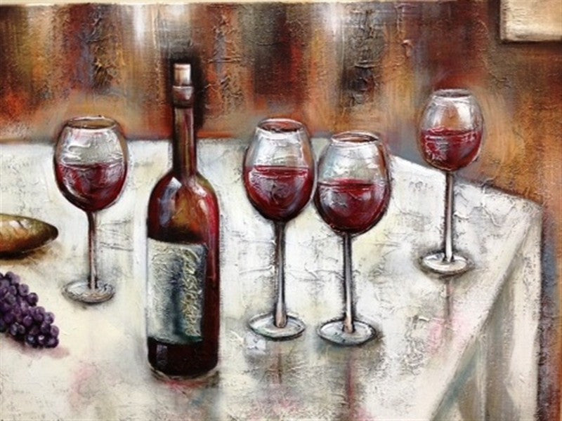Classic Red With Grapes - Canvas Art Online Australia from Go Arty
