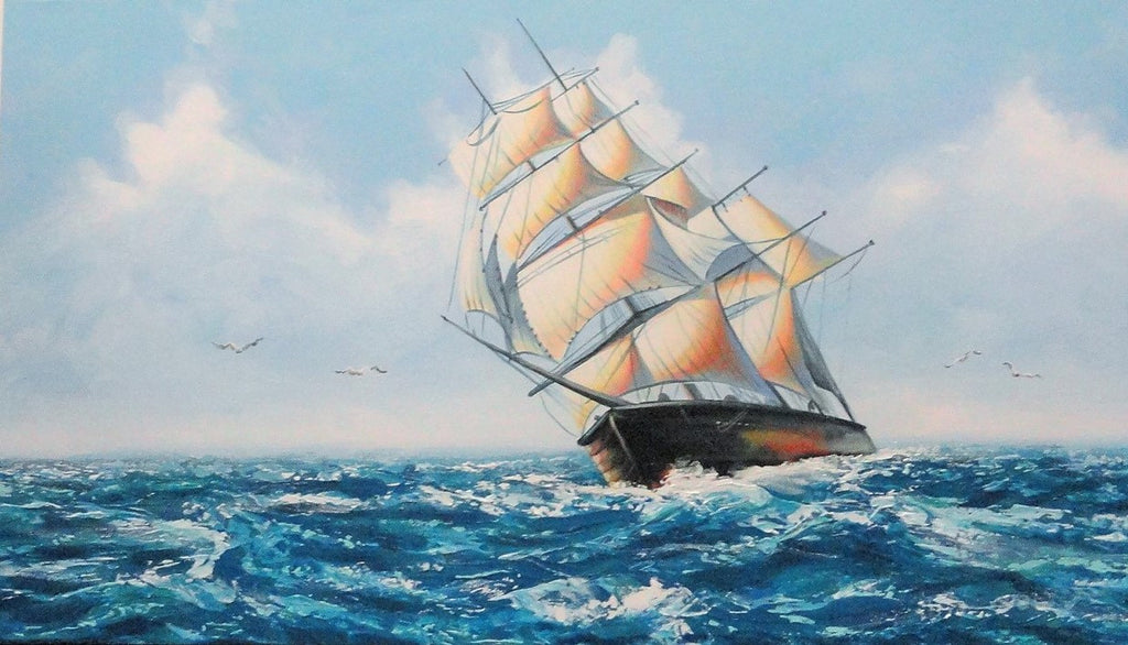 Clipper Under Sail - Canvas Art Online Australia from Go Arty