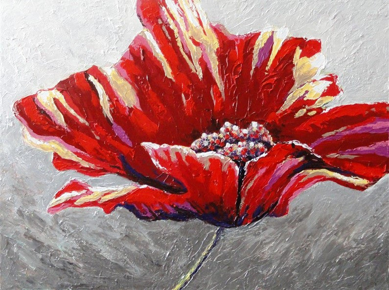 Contemporary Poppy - Canvas Art Online Australia from Go Arty