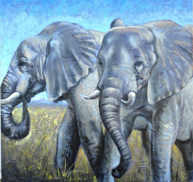 Elephant Duo - Canvas Art Online Australia from Go Arty
