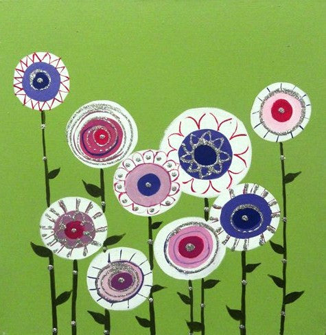 Field Of Flowers - Canvas Art Online Australia from Go Arty
