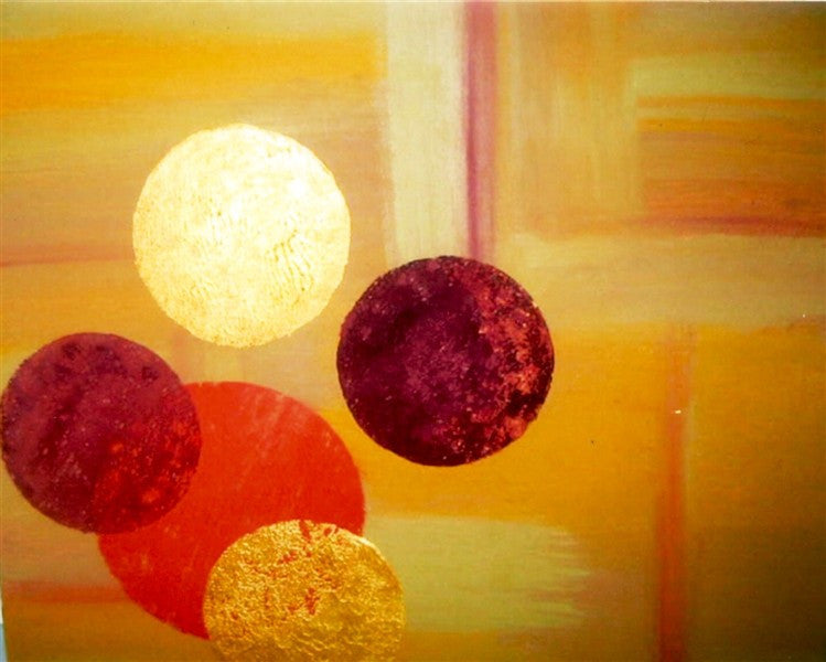 Floating Circles - Canvas Art Online Australia from Go Arty