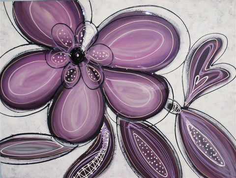 Flower Power Amethyst - Canvas Art Online Australia from Go Arty