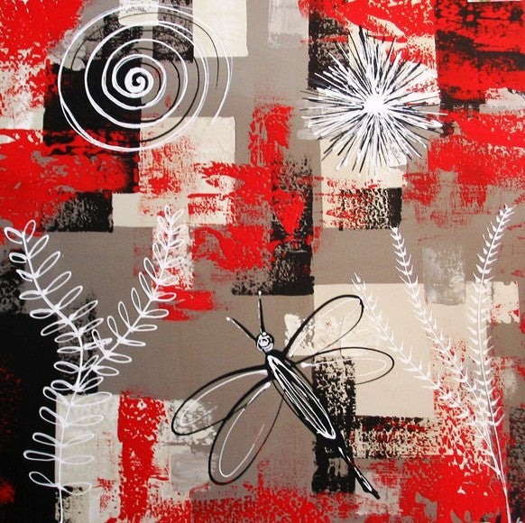 Fossils In Red - Canvas Art Online Australia from Go Arty