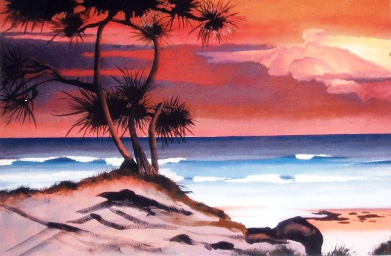 Fraser Sunset - Canvas Art Online Australia from Go Arty