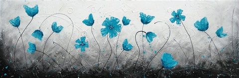 French Field In Aqua - Canvas Art Online Australia from Go Arty