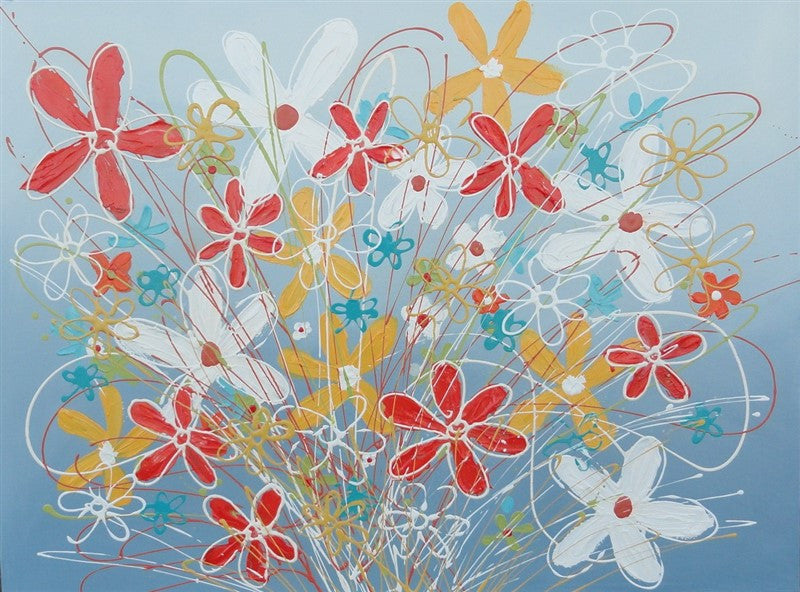 Gel Flowers 2 - Canvas Art Online Australia from Go Arty