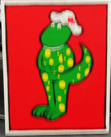 Green Dinosaur - Canvas Art Online Australia from Go Arty