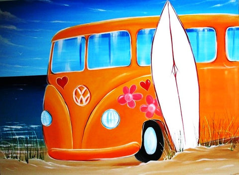 Happy Kombi Days - Canvas Art Online Australia from Go Arty