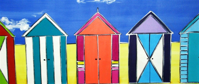 Italian Beach Huts - Canvas Art Online Australia from Go Arty