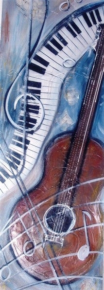 Keyboard Guitar - Canvas Art Online Australia from Go Arty