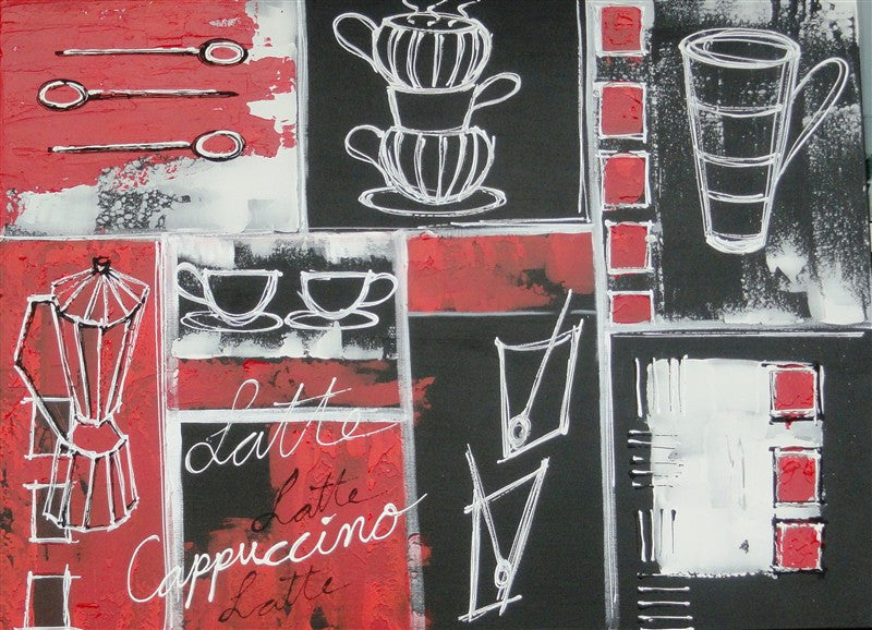 Kitchen Kaboodle In Red - Canvas Art Online Australia from Go Arty