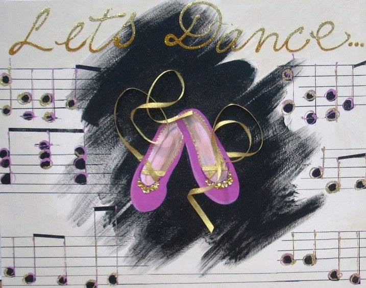 Let's Dance In Pink - Canvas Art Online Australia from Go Arty